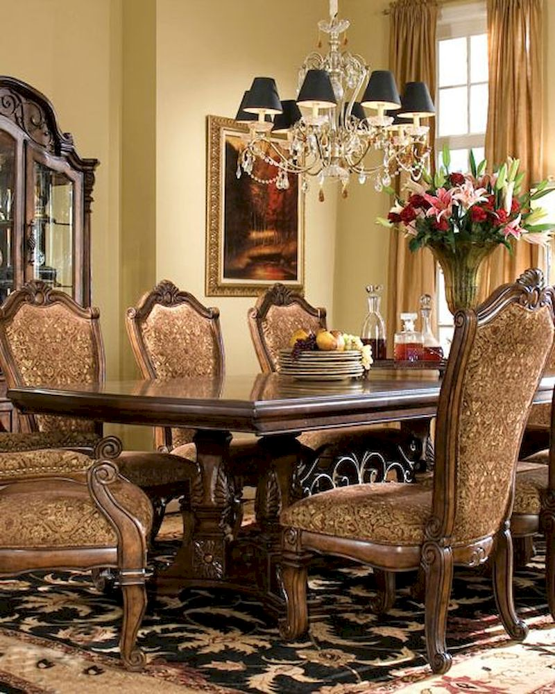 Aico dining table windsor court ai 70002tbms for Aico windsor court living room