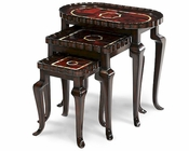 AICO Nesting Tables w/ Brown Penshell (3pc) AI-ACF-NST-ARGN-3P
