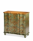 AICO Discoveries Storage Chest, Silver with Leaf AI-ACF-STC-RSMT-117