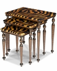 AICO Discoveries Zebra Nesting Tables (3pc) AI-ACF-NST-CPTN-004