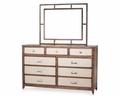 AICO Dresser and Mirror Biscayne West in Haze Color AI-80050260-200
