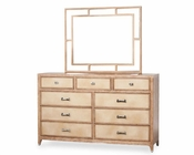 AICO Dresser and Mirror Biscayne West in Sand Color AI-80050260-102