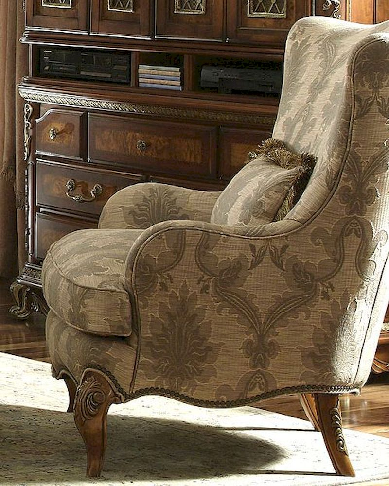 Beau AICO Fabric Wing Chair Venetian Ll AI 68836 MULTI 28