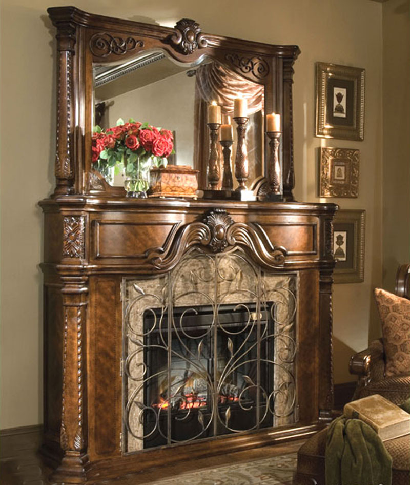Aico Furniture Windsor Court Fireplace With Mirror Ai 7022