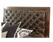AICO Headboard w/ Tufted Leather Bella Cera AI-38000HBL-45