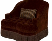 AICO Imperial Court Chair and a Half in Eggplant AI-79838-EGPLT-00