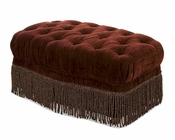 AICO Imperial Court Tufted Chair Ottoman in Eggplant AI-79877-EGPLT-00