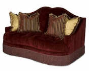AICO Imperial Court Tufted Loveseat in Eggplant AI-79825-EGPLT-00