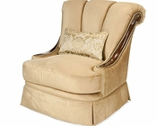 AICO Imperial Court Wood Trim Swivel Chair AI-79839-CHPGN-40