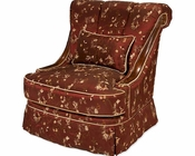 AICO Imperial Court Wood Trim Swivel Chair in Merlot AI-79839-MERLO-40