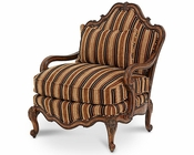 AICO Lavelle Melange Bergere Wood Chair  Brown/Gold AI-54835-BRGLD-34