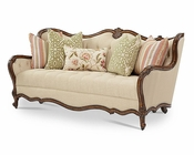 AICO Lavelle Melange Wood Trim Tufted Sofa AI-54815-BISQU-34