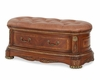AICO Leather Bedside Bench Cortina AI-N65904-28