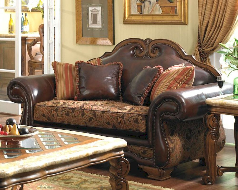 tufted loveseat studio fabric back leona gdf products high traditional winged