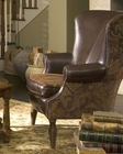 AICO Leather / Fabric Wing Chair SedgewickeAI-35936-BROWN-37