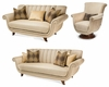 AICO Living Room Set Cloche AI-1081525-PLTNM-32Set