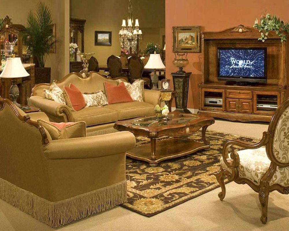 Aico living room set cortina ai 6581525 for Living room sets