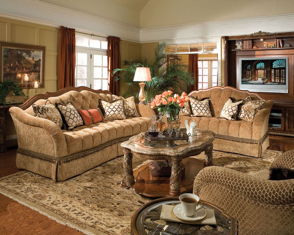 Aico living room set villa valencia ai 728 for Living room sets