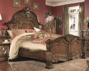 AICO Mansion Bed Windsor Court in Vintage Fruitwood AI-700-1-54