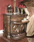 AICO Night Stand Windsor Court in Vintage Fruitwood AI-70040-54