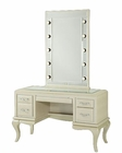 AICO After Eight Vanity/ Desk & Mirror in Pearl Croc AI-19000VM2-12