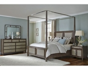 AICO Canopy Bedroom Set Biscayne West in Haze Color AI-80100-200SET