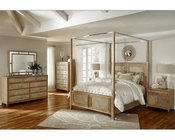 AICO Canopy Bedroom Set Biscayne West in Sand Color AI-80100-102SET