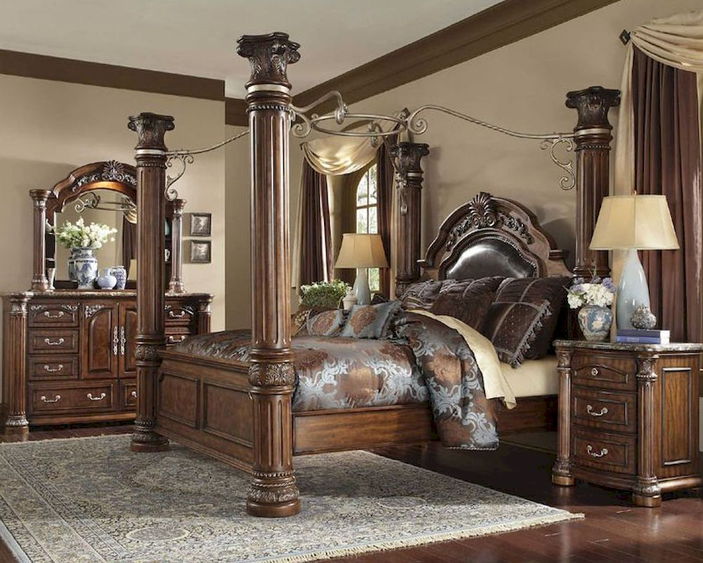 king poster bedroom sets.  AICO Poster Bedroom Set Monte Carlo II AI N530