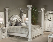 AICO Poster bedroom Set Monte Carlo II in Silver Pearl AI-N530-03