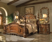 AICO Poster Bedroom Set Villa Valencia in Chestnut AI-720-55