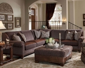 AICO Sectional Living Room Set Monte Carlo II AI-53912-BROWN-46s