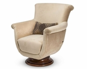 AICO Swivel Arm Chair Cloche AI-10839-PLTNM-32