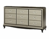 AICO After Eight Upholstered Dresser in Titanium AI-19050-16