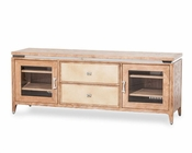 AICO TV Console Biscayne West in Sand Color AI-80098-102