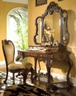 AICO Vanity Writing Desk Set Palais Royale in Rococo Cognac AI-712-35