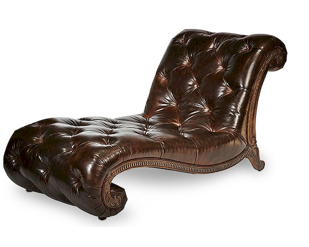 Aico victoria palace leather armless chaise ai 61941 dpbrn 29 for Aico trevi chaise