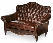 AICO Victoria Palace Leather Settee AI-61964-DPBRN-29