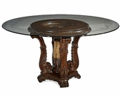 AICO Victoria Palace Round Glass Top Dining Table AI-61001-29