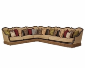 AICO Victoria Palace Sectional AI-61812-AMBER-SEC