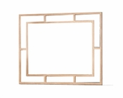 AICO Wall Mirror Biscayne West in Sand Color AI-80260-102