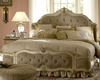 AICO Wing Mansion Bed Lavelle in Blanc AI-540-1-04