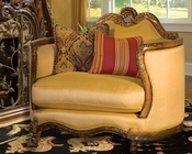 AICO Wood Trim Chair and a Half Palais Royale AI-71838-BRGLD-35