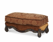 AICO Wood Trim Ottoman Essex Manor AI-76877-DPBRN-57