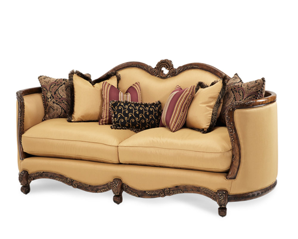 Aico Wood Trim Sofa Palais Royale Ai 71815 Brgld 35