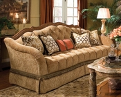 AICO Wood Trim Tufted Sofa Villa Valencia AI-72815-GREEN-55