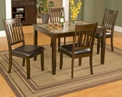 Alpine 5 Piece Dinette Set w/ Marble Top Table Capitola AL553