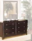 Alpine 6 Drawer Dresser in Dark Cherry Portola ALPB-03DCM