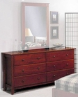 Alpine 6 Drawer Dresser in Light Cherry Portola ALPB-03LC