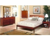 Alpine Bedroom Set in Light Cherry Portola ALPB-11SET