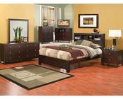 Alpine Bedroom Set w/ Bookcase Headboard Solana ALSKSETBC